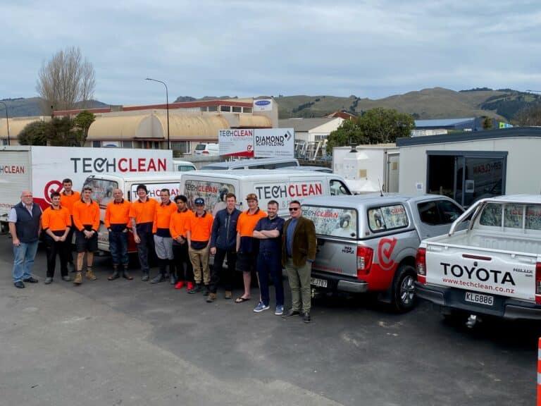 Tech Clean Christchurch team photo
