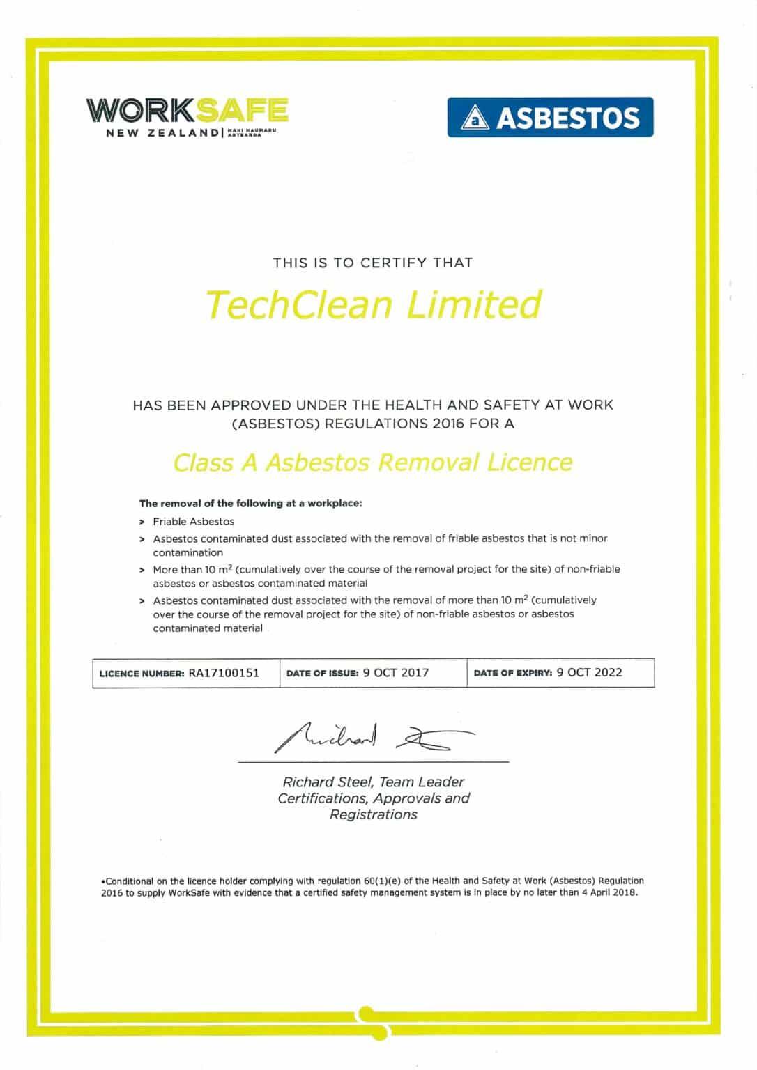 TCR Class A ACM License